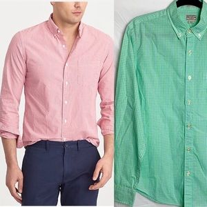 J.Crew Slim Washed Gingham Check Button Down Shirt